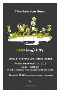 Parking Day Woodstock 2012