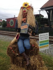 The AroundAbout Local Media Scarecrow. Isn't she beautiful?