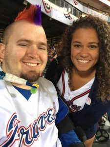 Tyler with high school friend Taylor Snow of the Braves' Tomahawk team.