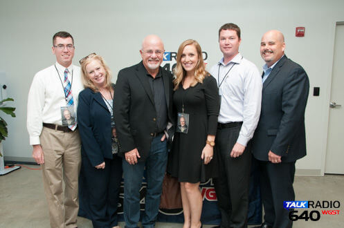 From left: Chase Chitwood, Sonia Carruthers, Dave Ramsey, Katie Bishop, Chad Atkinson and Jeff Mitchell.