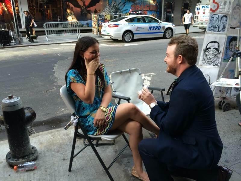 Cody Davis proposing to Sarah.