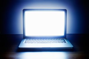 blue light from computer