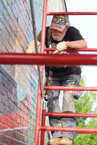 downtown woodstock mural townelaker
