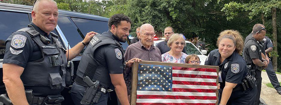 WWII Veteran Enjoys Birthday  Surprise Befitting a Hero